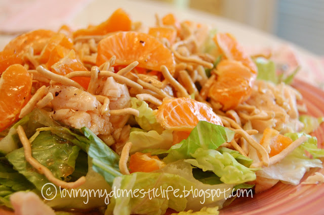... My Domestic Life: Asian Chicken Salad with Homemade Asian Dressing