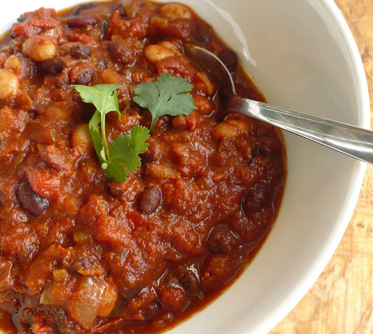 bean chili three bean vegetarian chili very veggie black bean chili ...