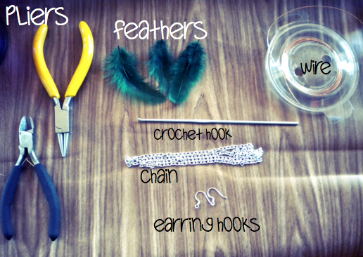 diy cartilage piercing. |Long Feather Earrings DIY|