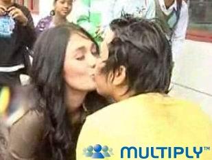 Ciuman Mesum Olga Syahputra pada Luna Maya