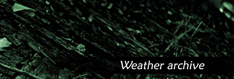 Weather Archive