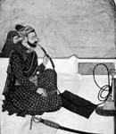 Antigo Persa fumando haxixe