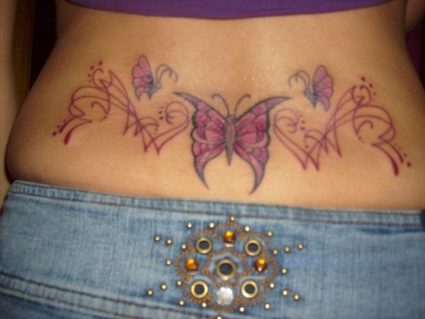 lower back tattoo cover up. Lower Back Tattoo- Butterfly