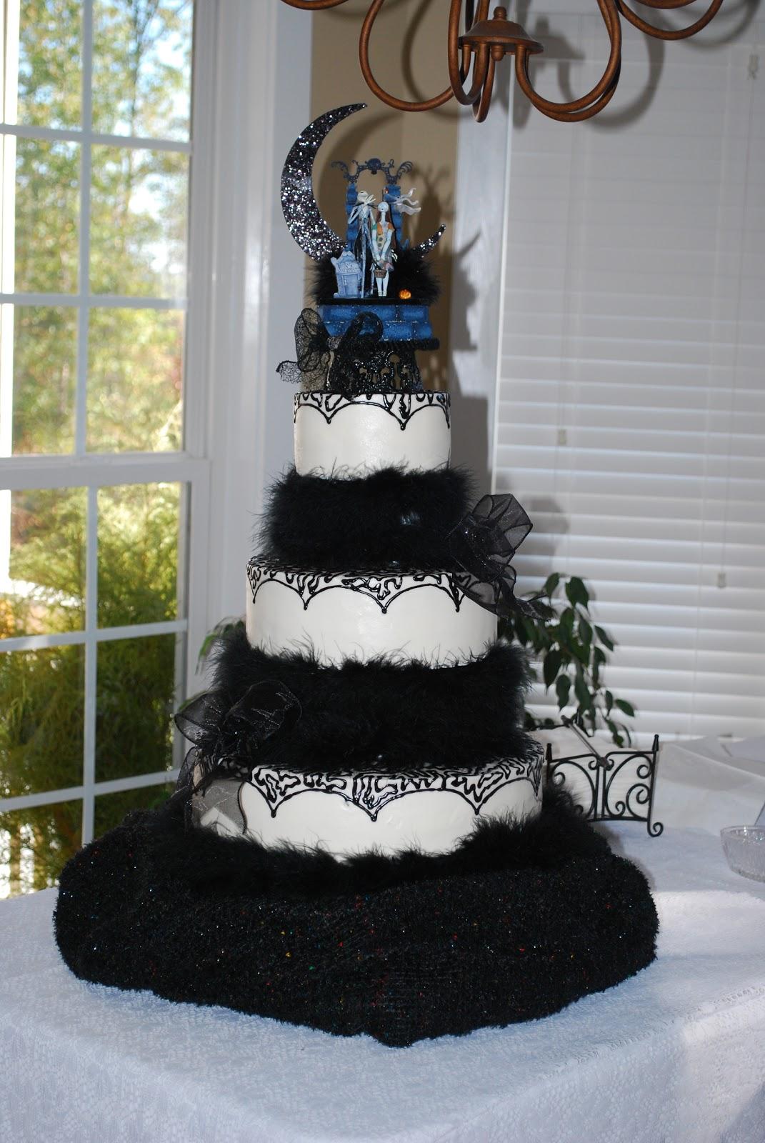 nightmare before christmas wedding cake ideas