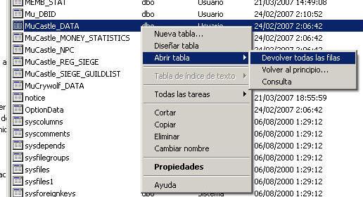 Configuración en SQL server 2000
