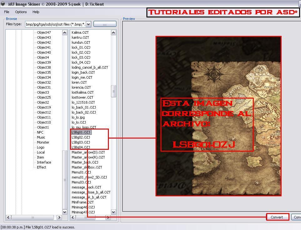 Convirtiendo archivos de ozj a jpg
