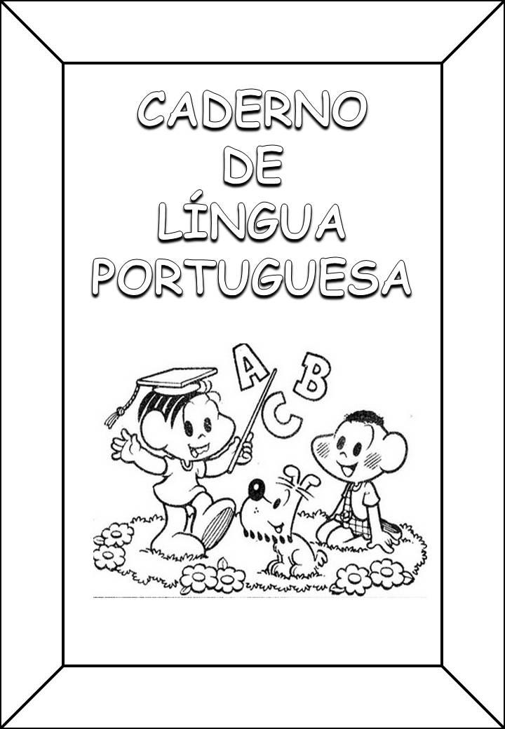 CAPAS DE CADERNO DE L  NGUA PORTUGUESA