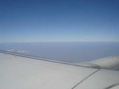 View outside the plane