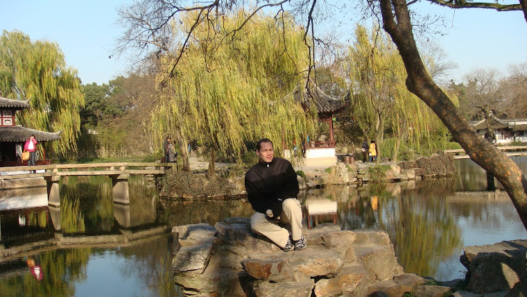 Tom at Suzhou Gardens