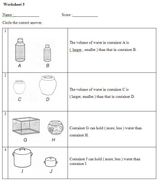 volume of liquid worksheet 3. Black Bedroom Furniture Sets. Home Design Ideas