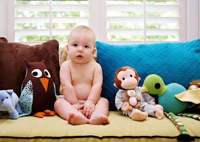 baby portrait, in nursery