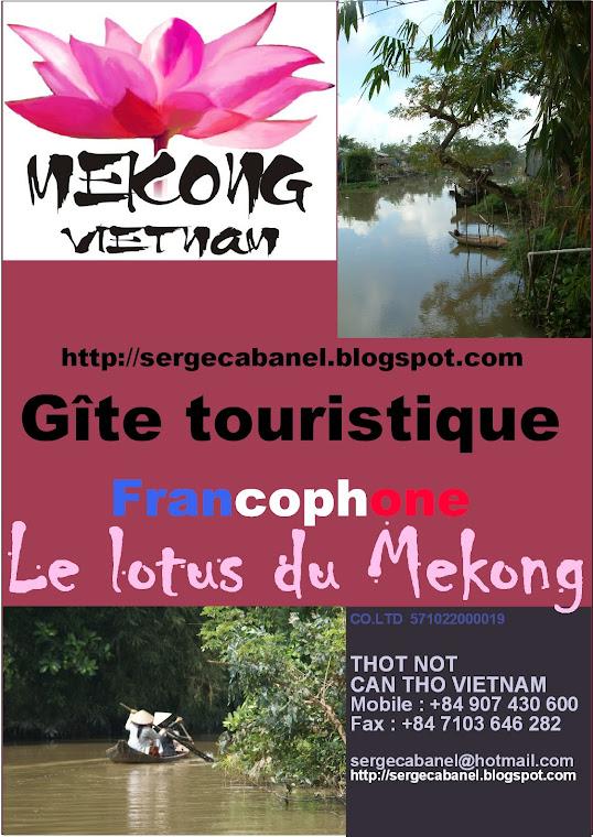 Le Lotus du Mekong  Vietnam Can Tho gîte touristique chambre d'hôtes viet nam mékong