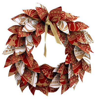 paper christmas wreath tutorial
