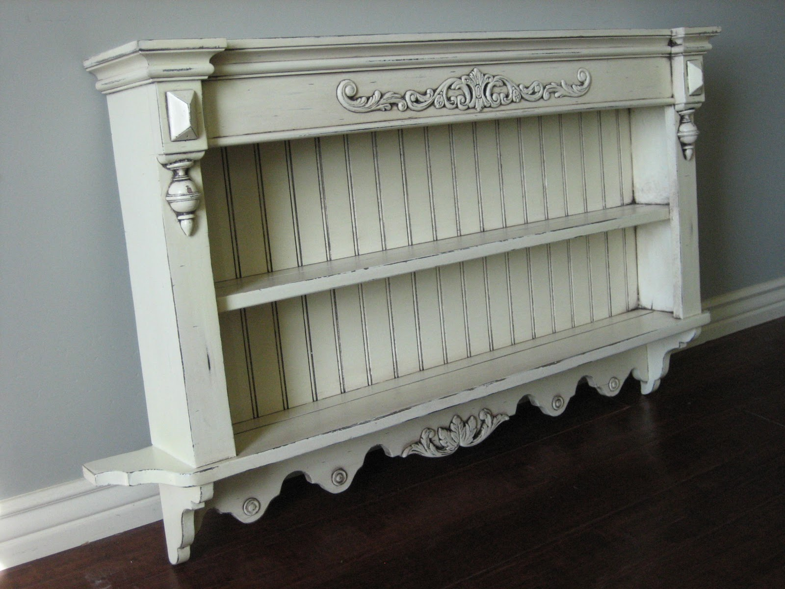 European paint finishes shabby french wall shelves top shelf is 45 deepttom shelf is 55 deep amipublicfo Image collections