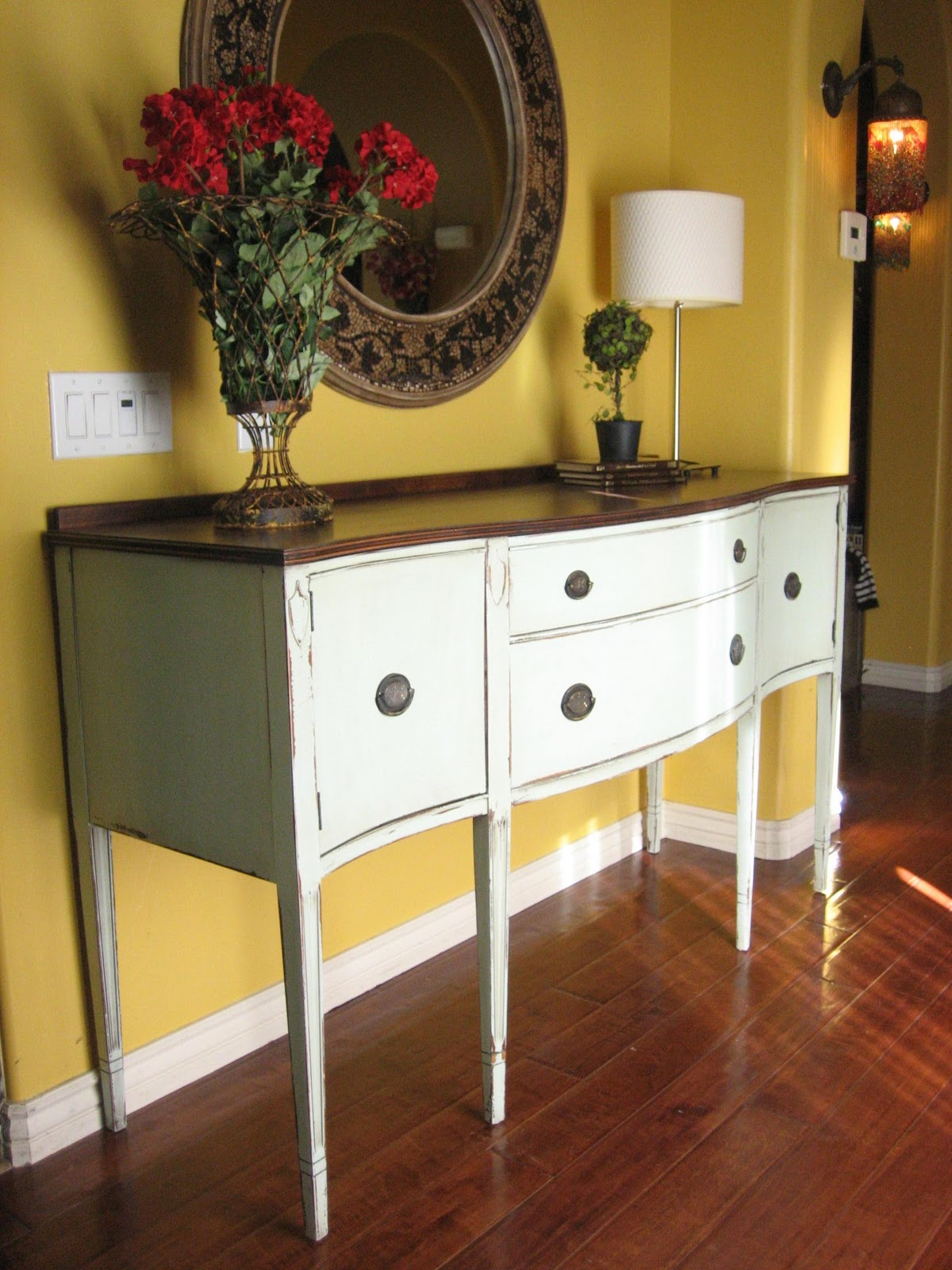 European paint finishes european classic vintage for Painted buffet sideboard