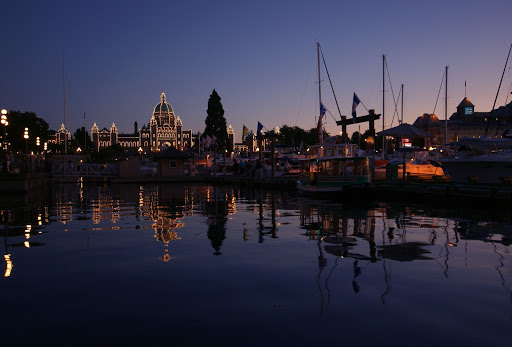 Inner Harbor, Parliament Buildings, Legislative Assembly, Victoria, BC, Canada