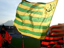 Brazil&#39;s collors at Flamengo&#39;s flag