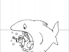 Jonah And The Big Fish Coloring Sheet