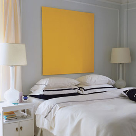 black white yellow apartment therapy cure bedroom