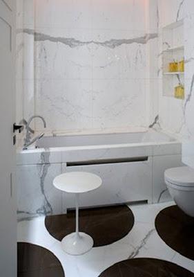 BLACK WHITE YELLOW Black And White Bathrooms