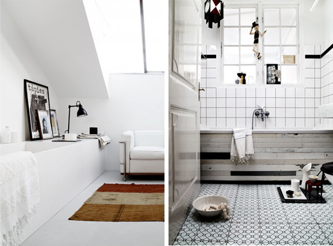 BLACK WHITE YELLOW Lovely Bathroom Inspiration