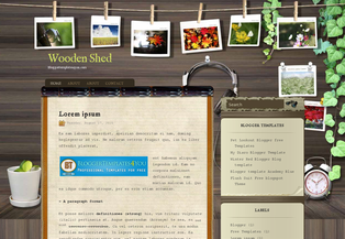 Wooden Shed Blogger Template