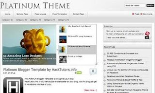 Free Blogger Templates Platinum