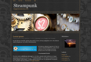 Blogger Templates: Steampunk