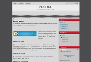 Free Blogger Template Fragile