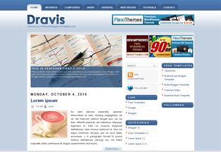 Free Blog Templates Dravis