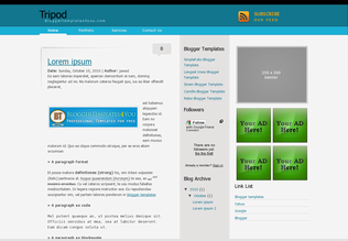 Tripod Blogger Template
