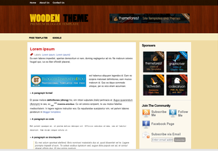 Wooden Theme Blogger Template
