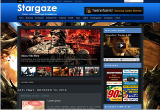 Games blogger templates