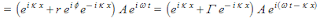 complex equation for the incident plus the reflected wave
