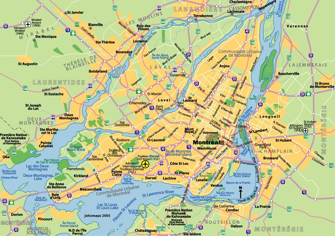 here is some info about montreal longitude and latitude