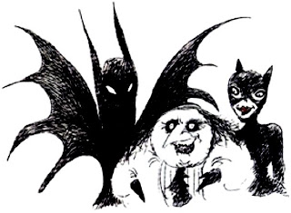 Bocetos y dibujos de Tim Burton Tim_burton_catwoman_batman_penguin