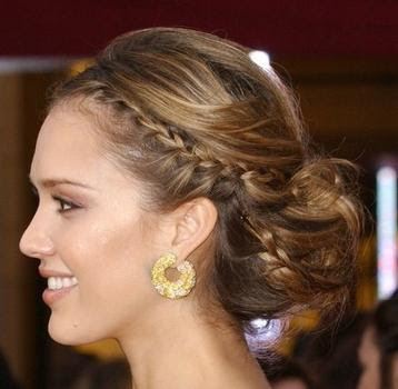 Celebrity Elegant Pulled up Updos
