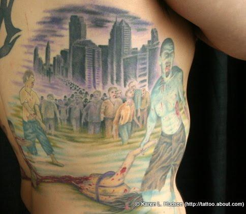 zombie tattoo. zombie tattoos.
