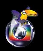 Le symbole de Globo et le toucan, emblème du PSDB, principal parti de droite