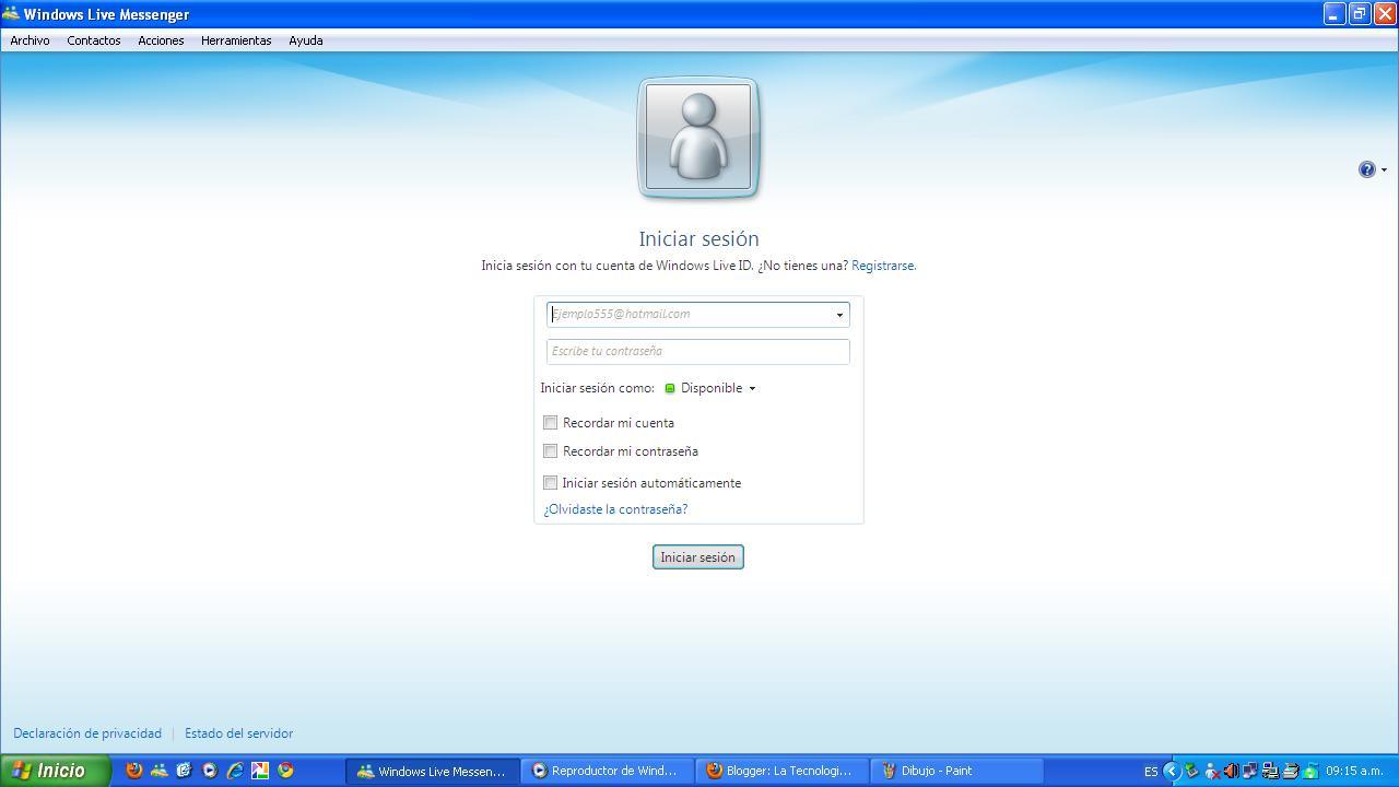 redes sociales y correo electronico como chatear con windows live