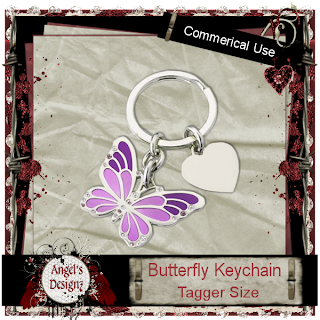 CU Beads, Crystals, Diamonds, Scatter, Magic Bag AngelsDesignz_ButterflyKeychain_Preview