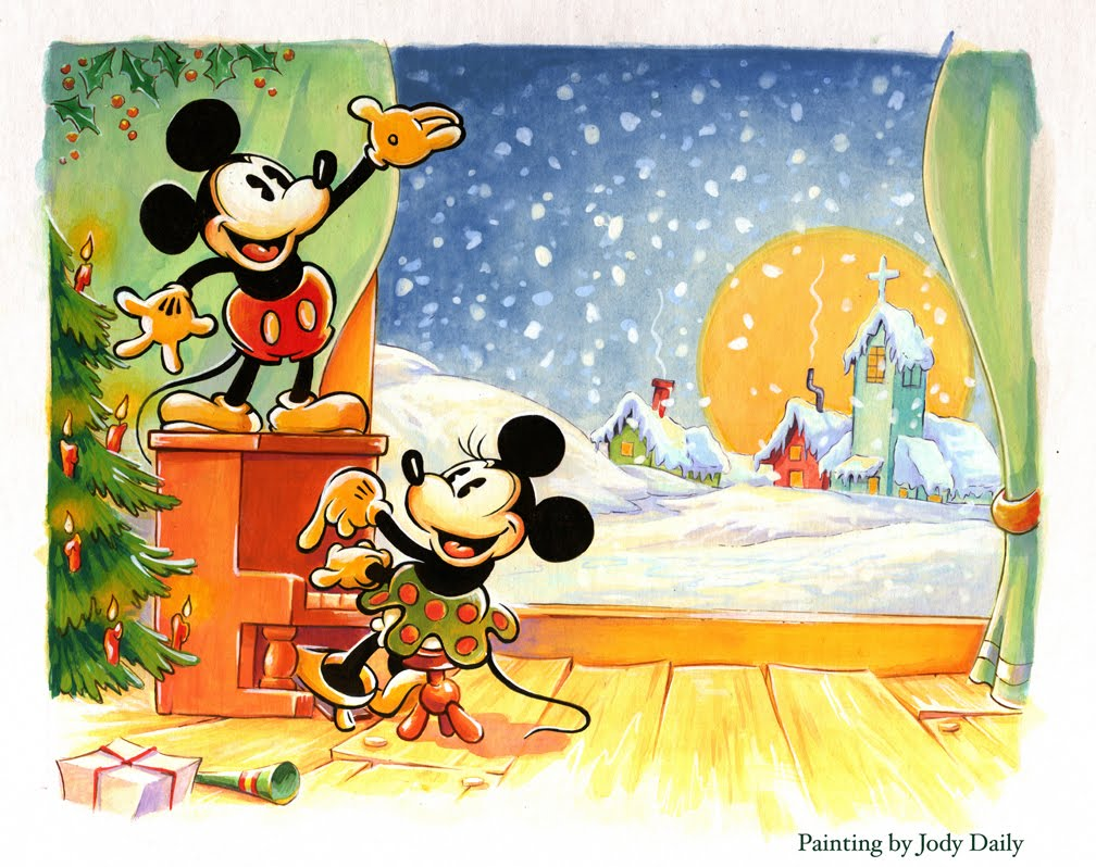 over 70 years later jody completes the final painting which in turn is published by disney as a boxed set of greeting cards
