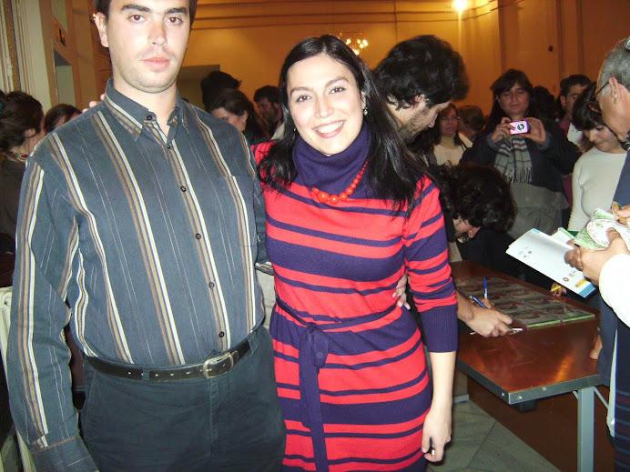 Javi y Ana Bacalhau 23-11-09 en concierto de Deolinda