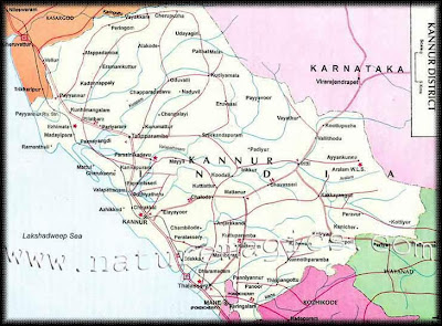 Kannur Kasargod Map Images - Kannur map