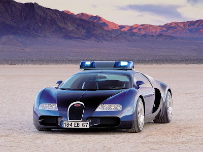 Police  Photo on Not Real But The Bugatti Veyron Would Be Worth Joining The Police For