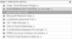 Preview WEBMASTER CENTRAL Grazr