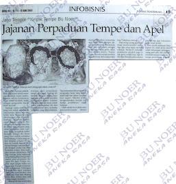 jago temple : jajanan perpaduan tempe & apple