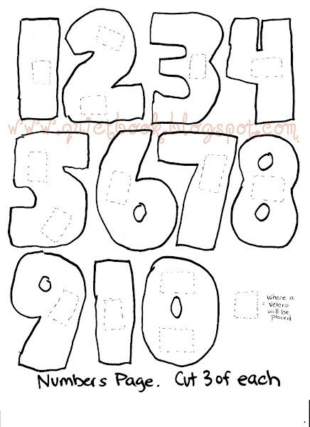 Free Large Printable Numbers 1-10