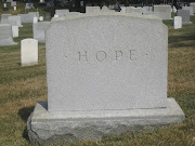 Reverse side of a tombstone, Arlington National Cemetery, July 2009.