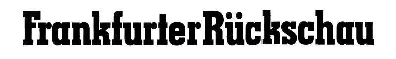 Frankfurter Rückschau